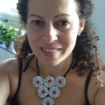My fuxico necklace by Tania Santana