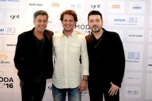 Luiz Calainho, Duda Magalhães and Carlos Tuvesson