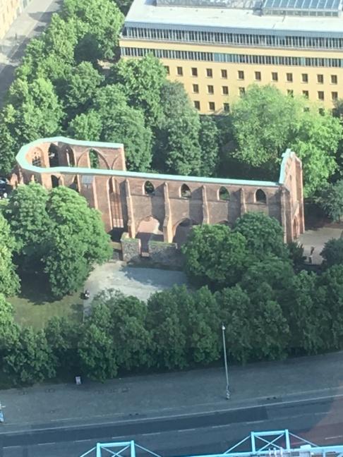 Church bombed in the II World War