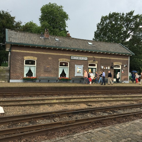 Just like the steam train station in the old days